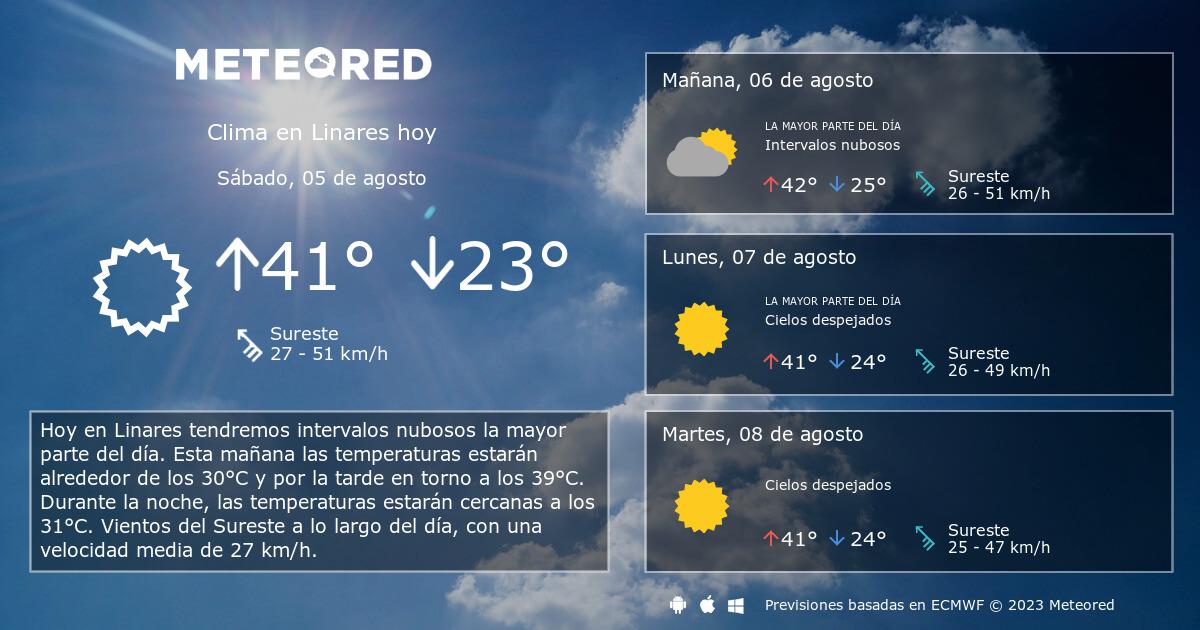 Clima En Linares El Tiempo A 14 Días Meteoredmx