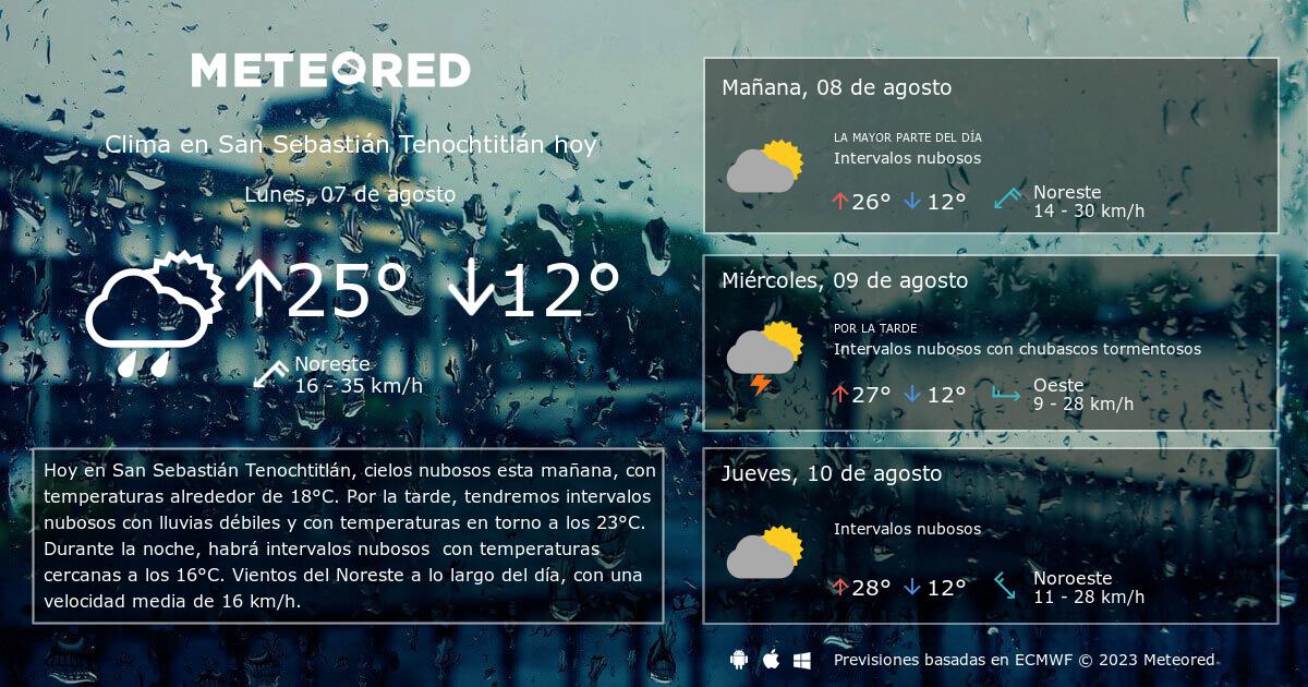 Clima en san sebasti n tenochtitl n el tiempo a 14 d as - El tiempo para manana en san sebastian guipuzcoa ...
