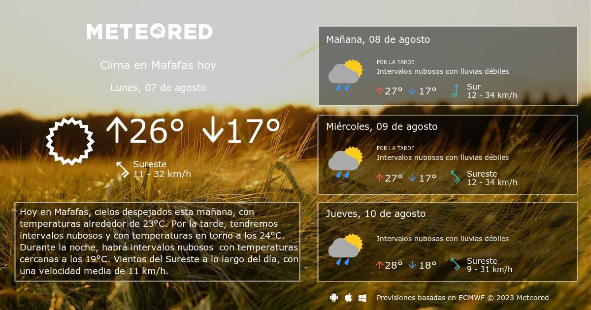 Clima En Mafafas El Tiempo A 14 Días Meteoredmx