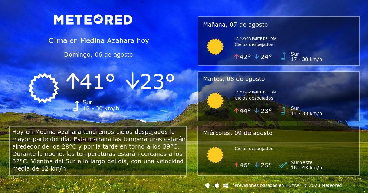 Clima En Medina Azahara El Tiempo A 14 Días Meteoredmx