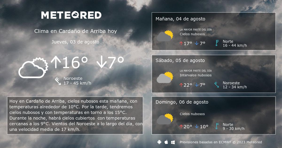 Clima En Cardaño De Arriba El Tiempo A 14 Días Meteored