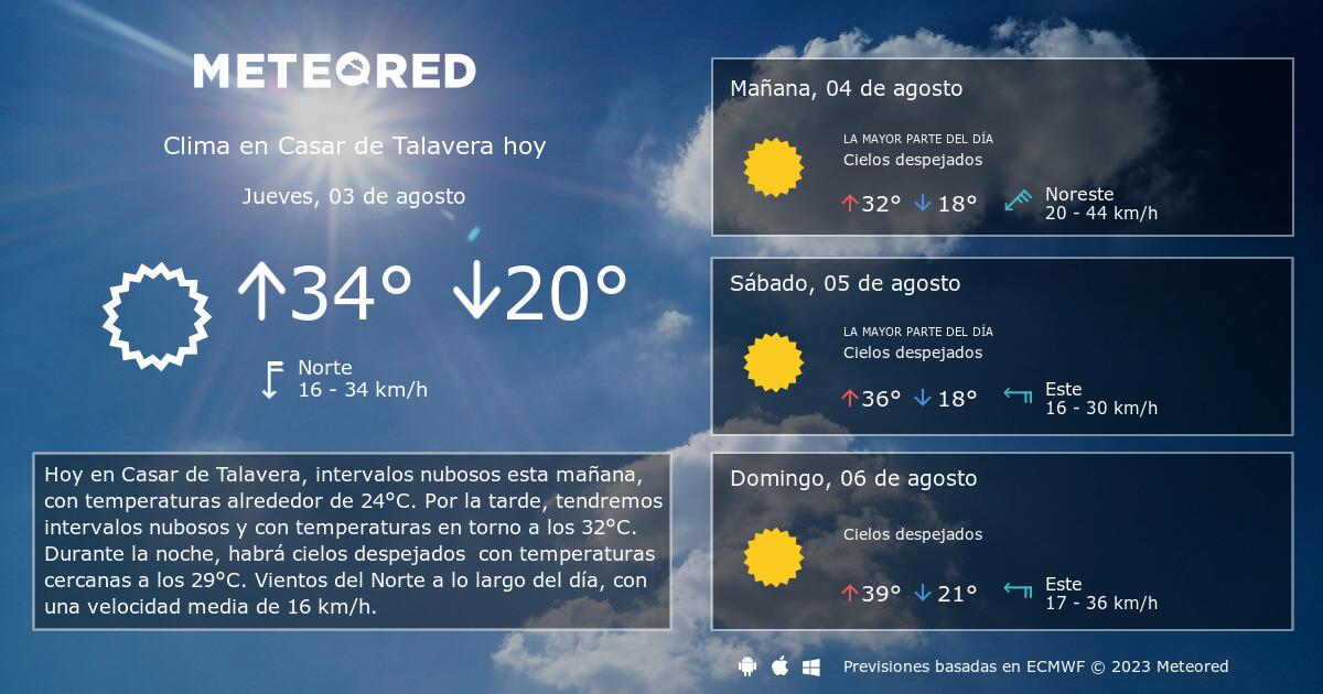 Clima En Casar De Talavera El Tiempo A 14 Días Meteored