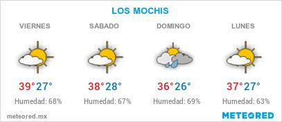 EL CLIMA EN LOS MOCHIS